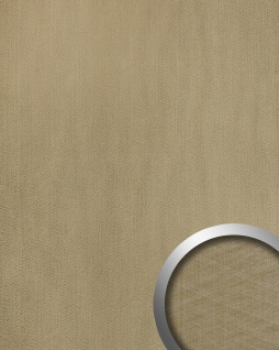 Wandpaneel Metalloptik WallFace 20198 METALLIC USED Champagne AR Wandverkleidung glatt im Used Look und mit metallischen Akzenten selbstklebend abriebfest grau grau-beige 2, 6 m2