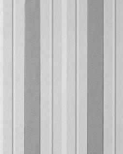 Streifen Tapete EDEM 069-26 Designer Vinyl Tapete Struktur Grau lichtgrau weiß silber