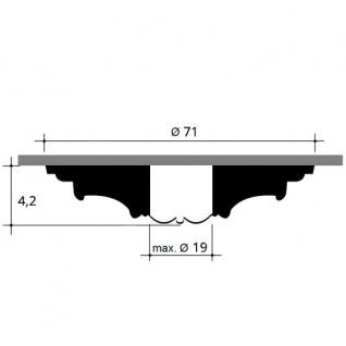 Deckenrosette Stuck Orac Decor R38 LUXXUS Rosette Decken Wand Dekor Element weiß hochwertig stabil | 71 cm Durchmesser - Vorschau 2