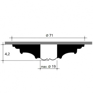 Deckenrosette Stuck Orac Decor R38 LUXXUS Rosette Decken Wand Dekor Element weiß hochwertig stabil 71 cm Durchmesser - Vorschau 2