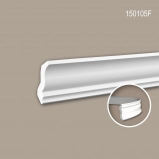 Eckleiste PROFHOME 150105F Zierleiste Flexible Leiste Stuckleiste Neo-Klassizismus-Stil weiß 2 m