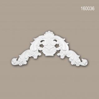 Zierelement PROFHOME 160036 Rokoko Barock Stil weiß