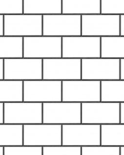 Grafik Tapete Profhome BA220101-DI heißgeprägte Vliestapete geprägt mit geometrischen Formen glänzend weiß anthrazit 5, 33 m2