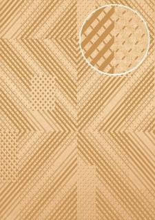 Grafik Tapete ATLAS XPL-564-4 Vliestapete strukturiert mit geometrischen Formen schimmernd gold sand-beige braun-beige gold-braun 5, 33 m2