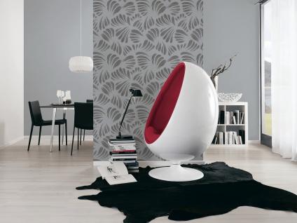Grafik Tapete Profhome 367035-GU Vliestapete leicht strukturiert mit grafischem Muster matt schwarz grau silber 5, 33 m2 - Vorschau 2