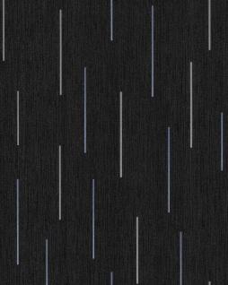 Streifen Tapete EDEM 85043BR26 Vinyltapete leicht strukturiert mit grafischem Muster und metallischen Akzenten anthrazit schwarz-grau violett-blau silber 5, 33 m2