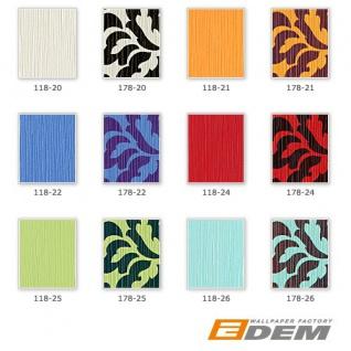 Uni Tapete EDEM 118-25 Tapete gestreift Vinyltapete gute Laune Farbe kiwi-grün perlmutt - Vorschau 3