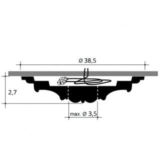 Stuckrosette Stuck Orac Decor R31 LUXXUS Rosette Decken Wand Dekor Element weiß hochwertig stabil | 38, 5 cm Durchmesser - Vorschau 2