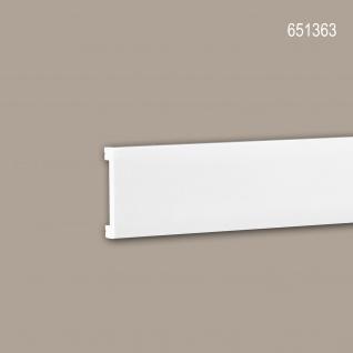 Wand- und Friesleiste PROFHOME 651363 Stuckleiste Zierleiste stoßfest Friesleiste Modernes Design weiß 2 m