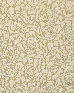 Blumen Tapete EDEM 830-22 Deluxe kunstvolle florale Struktur Blumentapete Pfingstrose creme-beige vanille gold 70 cm