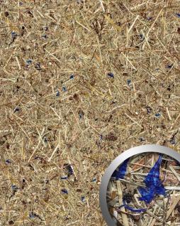 Wandverkleidung Natur Dekor WallFace AL-11002 ALPINE LAVENDER BLUE selbstklebende Tapete strukturiert mit echten unbehandelten alpinen Blumen und Gräsern matt braun blau 4, 026 m2