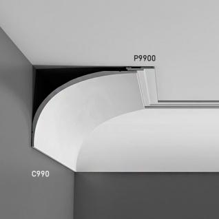 Wandleiste Stuck Orac Decor P9900 LUXXUS Stuck Leiste Friesleiste Rahmen Dekor Profil Zierleiste stoßfest | 2 Meter - Vorschau 4