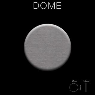 Mosaik Fliese massiv Metall Titan gebürstet in dunkelgrau 1, 6mm stark ALLOY Dome-Ti-SB 0, 73 m2 - Vorschau 2