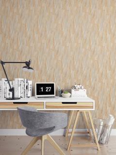 Streifen Tapete Profhome VD219142-DI heißgeprägte Vliestapete geprägt mit Streifen dezent schimmernd beige hell-elfenbein 5, 33 m2 - Vorschau 2