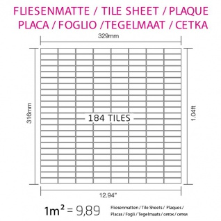 Mosaik Fliese massiv Metall Edelstahl matt in grau 1, 6mm stark ALLOY Cabin-S-S-MA 1, 01 m2 - Vorschau 4