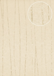 Streifen Tapete Atlas COL-566-7 Vliestapete glatt Design schimmernd grau seiden-grau silber 5, 33 m2