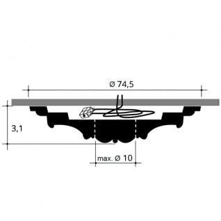 Deckenrosette Stuck Orac Decor R40 LUXXUS Rosette Decken Wand Dekor Element hochwertig stabil 74, 50 cm Durchmesser - Vorschau 2