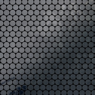 Mosaik Fliese massiv Metall Rohstahl gewalzt in grau 1, 6mm stark ALLOY Penny-RS 0, 88 m2