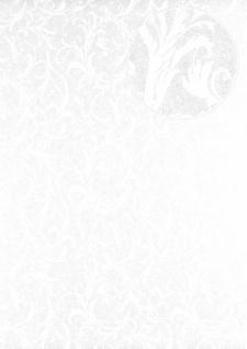 Barock Tapete Atlas PRI-523-4 Vliestapete glatt mit floralen Ornamenten schimmernd elfenbein hell-elfenbein perl-weiß 5, 33 m2