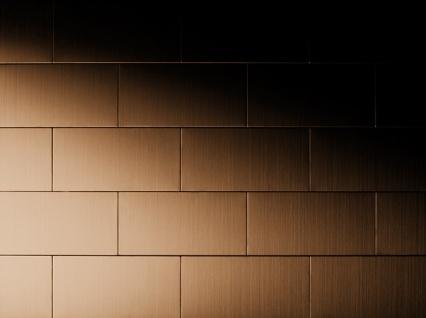 Mosaik Fliese massiv Metall Titan gebürstet in kupfer 1, 6mm stark ALLOY Subway-Ti-AB 0, 58 m2 - Vorschau 5