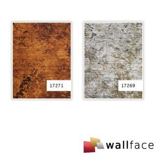 Wandplatte selbstklebend Leder Dekor WallFace 17271 VINTAGE Wandpaneel Vintage Look Design kupfer braun 2, 60 qm - Vorschau 3