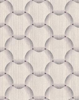 Retro Tapete EDEM 1035-14 Vinyltapete strukturiert mit grafischem Muster glitzernd creme beige braun 5, 33 m2