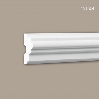 Wand- und Friesleiste PROFHOME 151304 Stuckleiste Zierleiste Wandleiste Neo-Klassizismus-Stil weiß 2 m