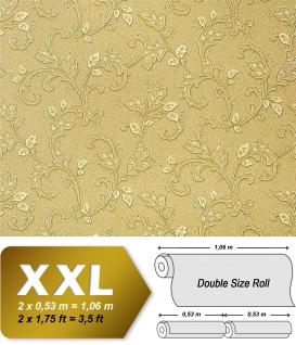Blumen Tapete Vliestapete EDEM 927-38 Luxus Präge Vlies-Tapete kunst floral fresco look olive braun-beige 10, 65 qm