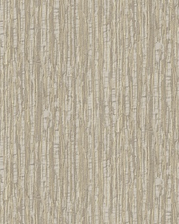 Streifen Tapete Profhome DE120083-DI heißgeprägte Vliestapete geprägt mit Streifen glänzend beige bronze 5, 33 m2