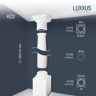 Vollsäule Komplett Set Orac Decor Luxxus KD2 Stuck Säule weiß antike Rund form klassisch leicht zu kürzen | 2, 88 Meter