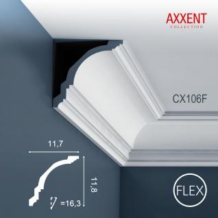Eckleiste Orac Decor CX106F AXXENT flexible Stuckleiste Zierleiste Zeitloses Klassisches Design weiß 2m