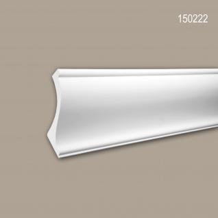 Eckleiste PROFHOME 150222 Zierleiste für indirekte Beleuchtung Stuckleiste Zeitloses Klassisches Design weiß 2 m