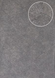 Spachtel-Putz Tapete Atlas INS-5079-4 Strukturtapete geprägt glänzend blau blau-grau tauben-blau 7, 035 m2