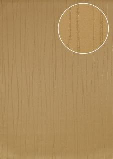Streifen Tapete Atlas ICO-5077-4 Vliestapete glatt Design schimmernd gold elfenbein 7, 035 m2