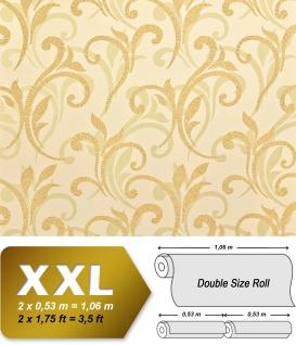 Blumen Tapete XXL Vliestapete EDEM 928-22 Abstraktes florales Muster Design Blumentapete gold creme beige 10, 65 m2