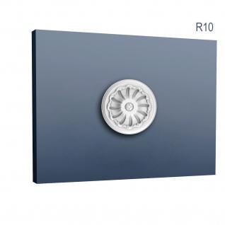 Rosette Stuck Orac Decor R10 LUXXUS Deckenrosette Wand Dekor Zier Stuck Element antik dekor weiß | 15 cm Durchmesser