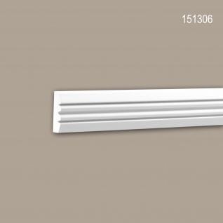 Wand- und Friesleiste PROFHOME 151306 Stuckleiste Zierleiste Wandleiste Neo-Klassizismus-Stil weiß 2 m