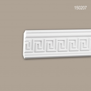 Eckleiste PROFHOME 150207 Zierleiste Stuckleiste Zeitloses Klassisches Design weiß 2 m