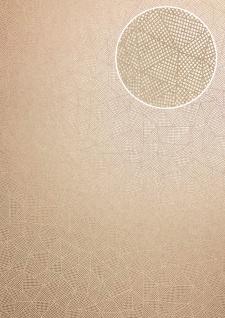 Grafik Tapete ATLAS XPL-594-1 Vliestapete strukturiert mit geometrischen Formen schimmernd beige gold-braun gold 5, 33 m2