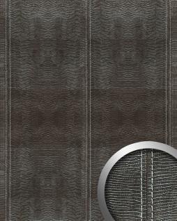 Wandpaneel Leder Blickfang WallFace 15007 LEGUAN Design Dekor Echtnaht selbstklebende Tapete Wandbelag schwarz | 2, 60 qm
