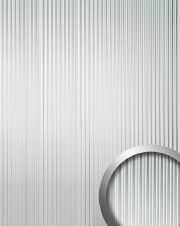 Wandpaneel 3D Rillen-Struktur WallFace 11360 WAVE Verkleidung Metalloptik selbstklebend silber | 2, 60 qm