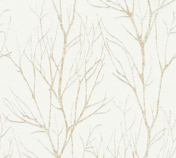 Natur Tapete Profhome 372603-GU Vliestapete leicht strukturiert mit floralen Ornamenten matt beige gold creme 5, 33 m2
