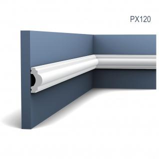 Profilleiste Friesleiste Stuck PX120 AXXENT Wandleiste Zierleiste profil Wand Rahmen Dekor Element 2 Meter