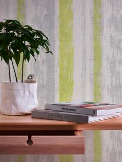 Stein Kacheln Tapete Profhome 944251-GU Vliestapete glatt in Steinoptik matt grau grün gelb 5, 33 m2 - Vorschau 5
