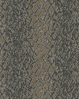 Tiermotiv Tapete Profhome DE120130-DI heißgeprägte Vliestapete geprägt mit Schlangenmuster glänzend braun grau gold 5, 33 m2