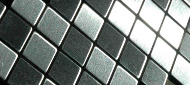Mosaik Fliese massiv Metall Edelstahl gebürstet in grau 1, 6mm stark ALLOY Diamond-S-S-B 0, 91 m2 - Vorschau 4