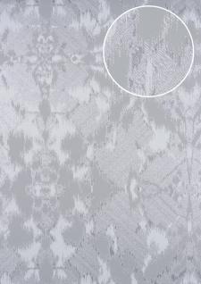 Spachtel Putz Tapete ATLAS HER-5130-1 Vliestapete geprägt im Landhaus-Stil schimmernd grau grau-braun grau-weiß 7, 035 m2
