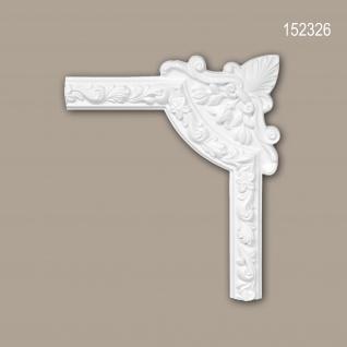 Eckelement PROFHOME 152326 Zierelement Rokoko Barock Stil weiß