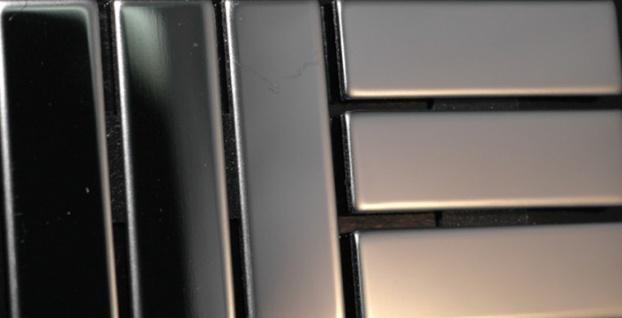 Mosaik Fliese massiv Metall Edelstahl hochglänzend in grau 1, 6mm stark ALLOY Basketweave-S-S-M 0, 82 m2 - Vorschau 4
