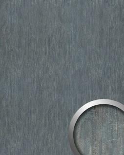 Wandplatte Wandverkleidung selbstklebend WallFace 17847 OXY STEEL Wandpaneel Leder Stahlblech Look grau | 2, 60 qm